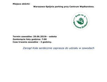 TOWARZYSKIE ZAWODY SPŁAWIKOWE-29.06.2019r rzeka Wisła -Spójnia